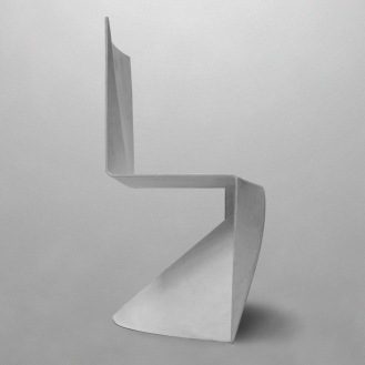 glassfibre, origami, polyester, stackable chair, tlf04, tobias labarque, white